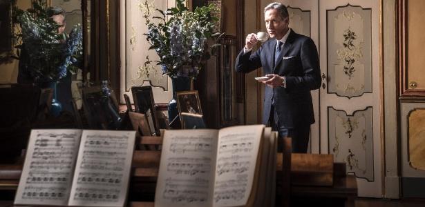 Howard Shultz, executivo-chefe da Starbucks, em um hotel em Milão, Itália