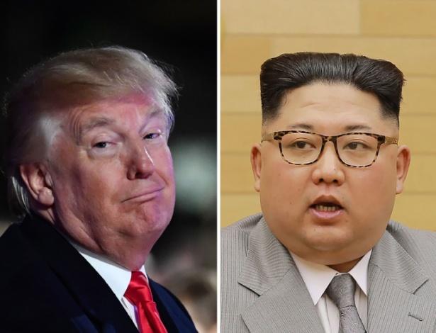 Donald Trump (esq.) e Kim Jong-un