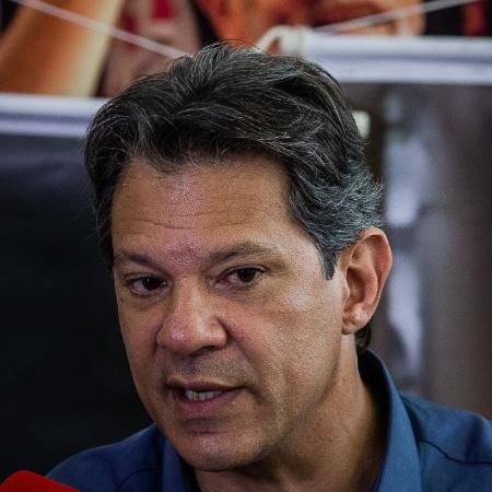 03.out.2018 - O candidato à presidência Fernando Haddad durante coletiva de imprensa em São Paulo. - Eduardo Anizelli/Folhapress
