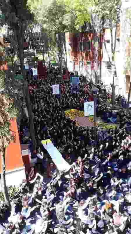 Alunos realizaram protesto após morte de aluna no ITAM  - Arquivo Pessoal - 13.dez.2019