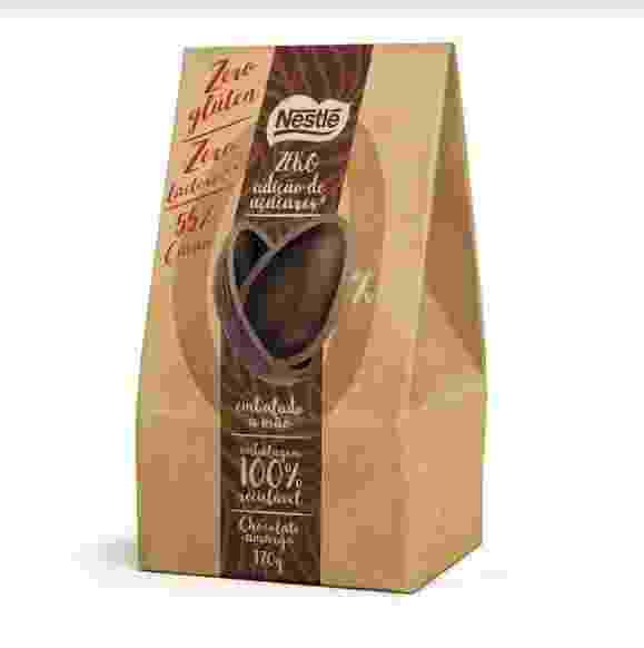 Ovo de Páscoa Nestlé zero adição de açúcar, zero lactose e zero glúten, de 170g. - Divulgação