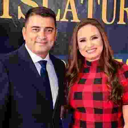 Deputada Alliny Serrão e o marido, Márcio Serrão, prefeito de Laranjal do Jari - Arquivo Pessoal