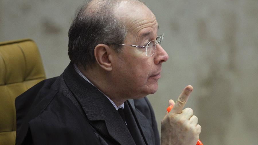 O ministro Celso de Mello participa de sessão do STF - UESLEI MARCELINO