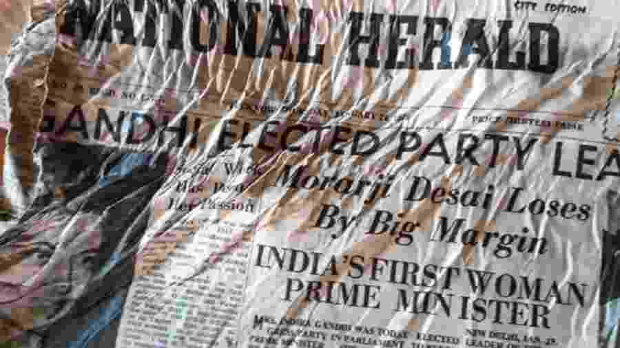 Primeiras páginas noticiam primeira eleição de Indira Gandhi - AFP via BBC