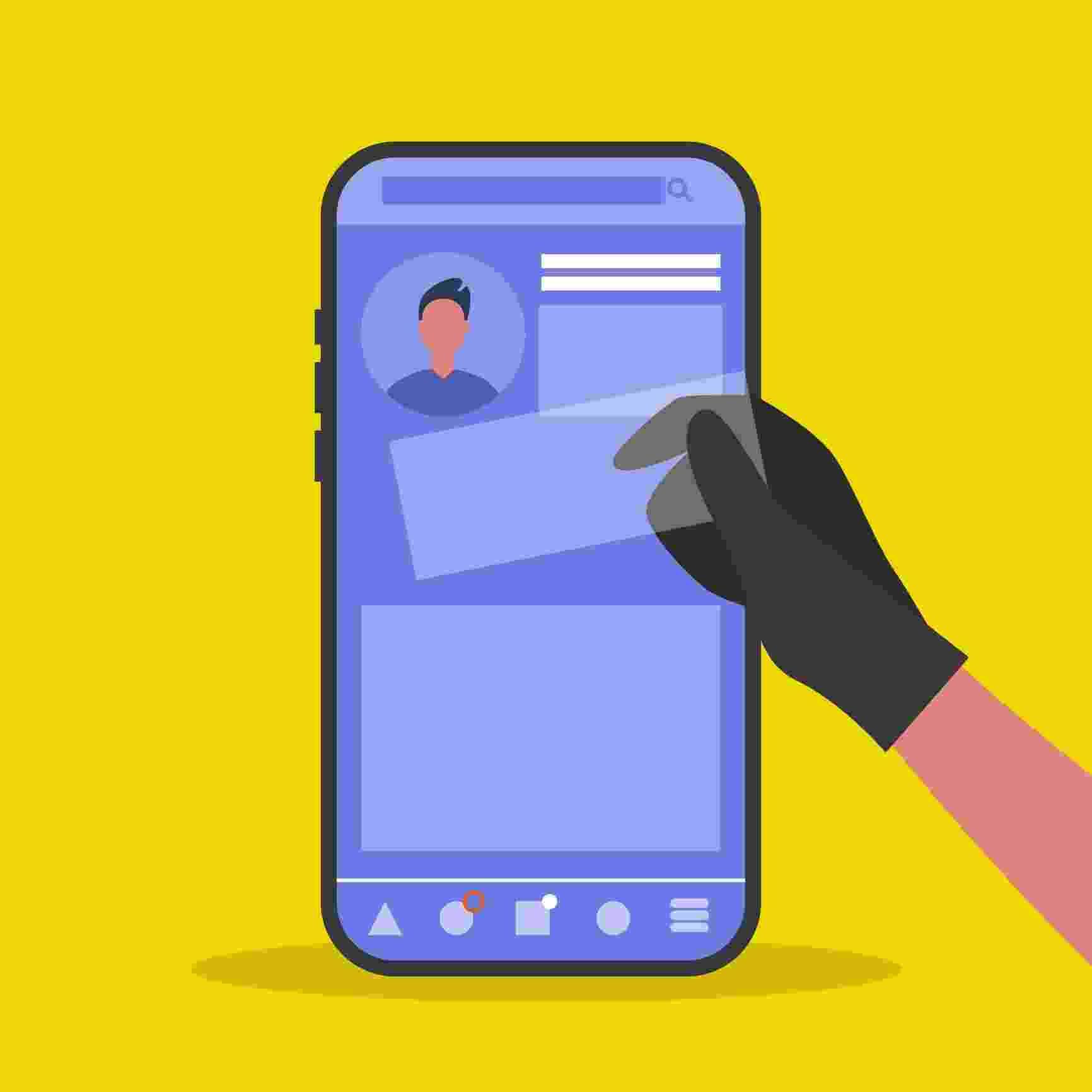 Fraude, roubo de dados, celular - Getty Images/iStockphoto