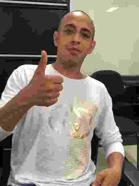 André Andrade Mezzette após ter sido colocado em liberdade - Arquivo pessoal - 02.set.2020
