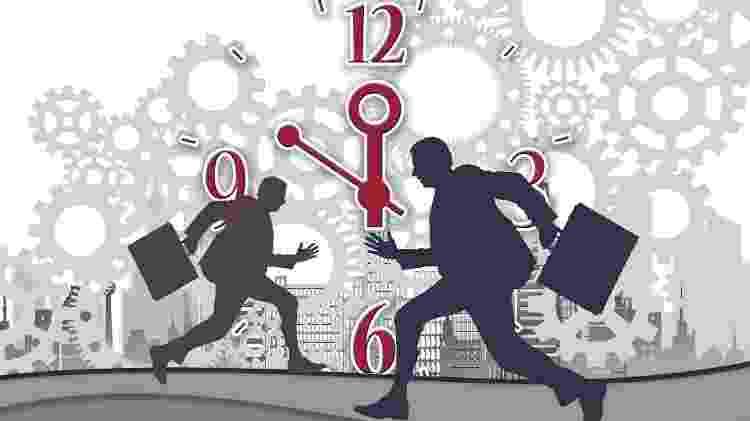 Ilustração - estresse trabalho correria profissão  falta de tempo - Gerd Altmann/ Pixabay - Gerd Altmann/ Pixabay