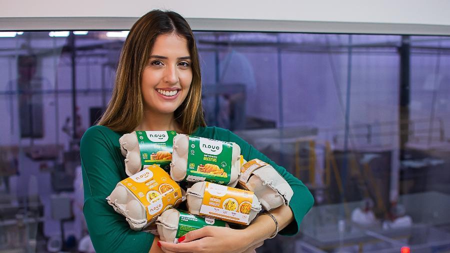 Amanda Pinto é fundadora do N.ovo, que produz alimentos à base de plantas, incluindo ovos veganos em pó - Divulgação