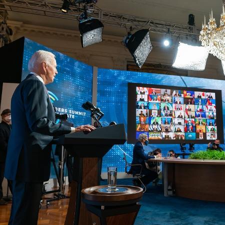 Joe Biden durante inauguração da cúpula virtual sobre o clima - White House