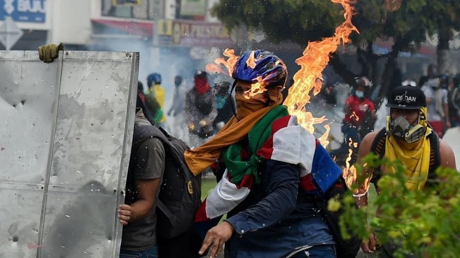 Cali, terceira maior cidade da Colômbia, se tornou o epicentro dos protestos - Getty Images