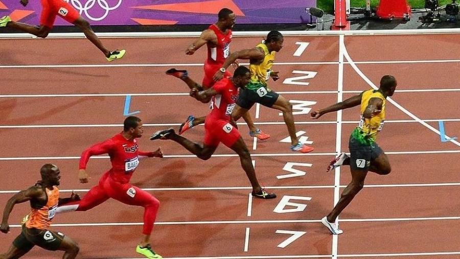 A final dos 100m rasos masculinos em Londres 2012, em que sete dos oito finalistas correram abaixo de 10 segundos, foi um sinal do que está por vir - Getty Images