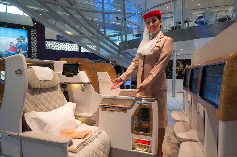 Nova poltrona da Emirates Airlines para os Boeing 777
