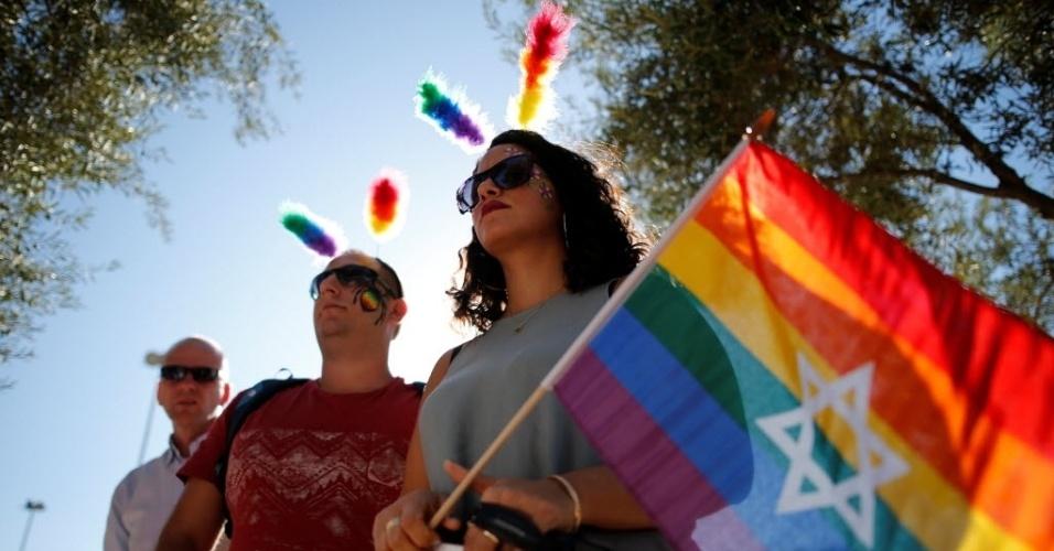 21.jul.2016 - Ativistas participam da Parada Anual do Orgulho Gay, em Jerusalém, Israel