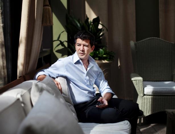 Travis Kalanick presidente-executivo e fundador do Uber, em Nova York