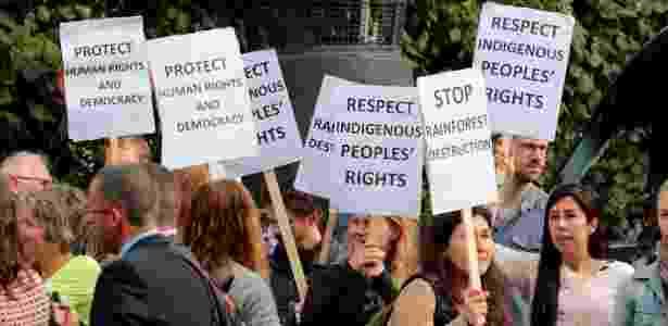 Protesto contra Temer na Noruega - Hakon Mosvold Larsen/NTB/Reuters - Hakon Mosvold Larsen/NTB/Reuters