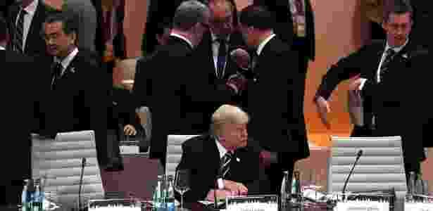 7.jul.2017 - O presidente dos EUA, Donald Trump, durante a cúpula do G20 em Hamburgo, na Alemanha - Patrik Stollarz/AFP