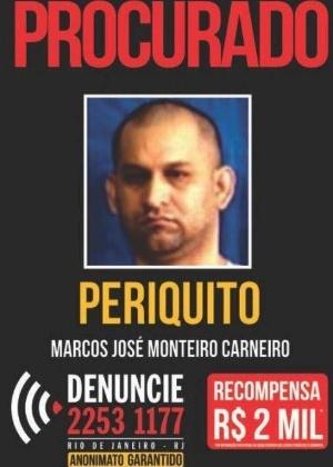 25.ago.2017 - Cartaz de busca por Marcos José Monteiro Carneiro, o Periquito - Divulgação