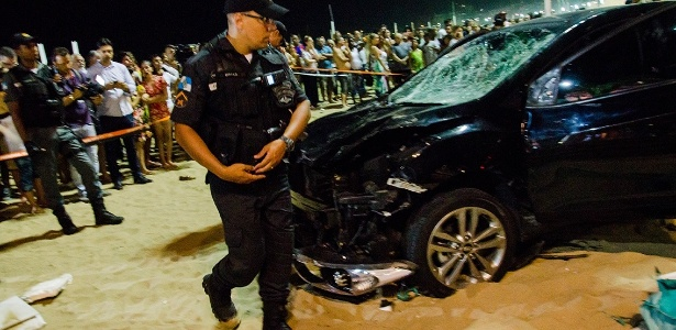 Em janeiro, um carro invadiu o calçadão de Copacabana e atropelou 17 pessoas