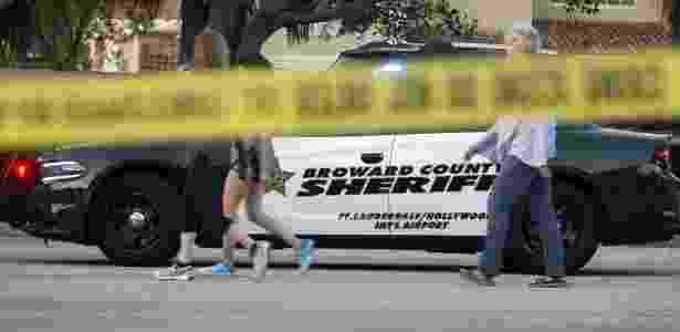 Colégio na Flórida foi isolado após ataque que deixou ao menos 17 mortos nesta quarta - EPA