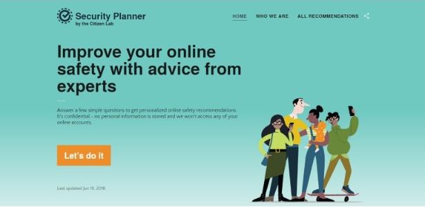 A plataforma Security Planner foi elaborada por especialistas em segurança digital