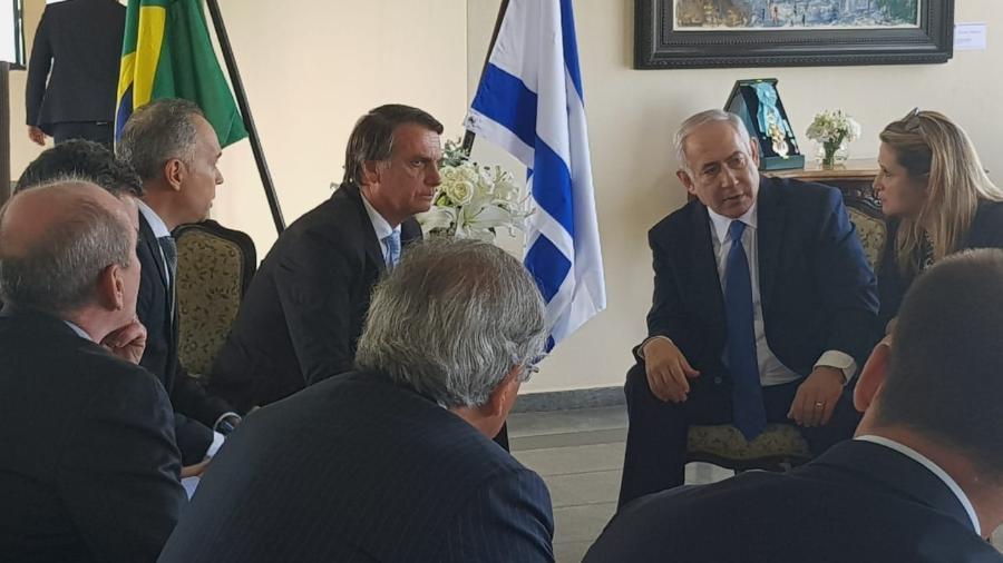 Jair Bolsonaro e Benjamin Netanyahu se reúnem no Rio de Janeiro - Divulgação