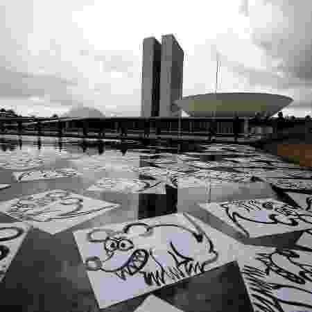Protesto contra corrupção e a favor da Operação Lava Jato diante do Congresso Nacional, em Brasília - Pedro Ladeira - 4.dez.2016/Folhapress