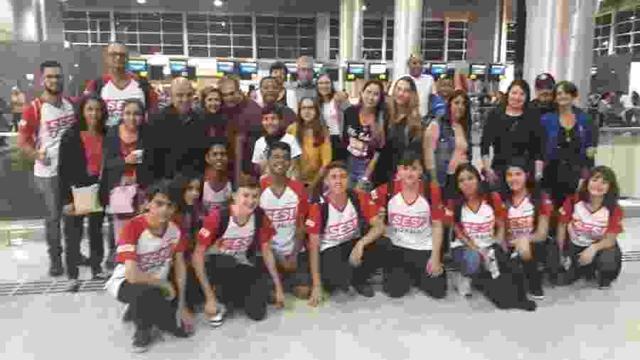 Equipe Robonáticos #7565 do Sesi São Paulo - Divulgação/Facebook Robonáticos #7565