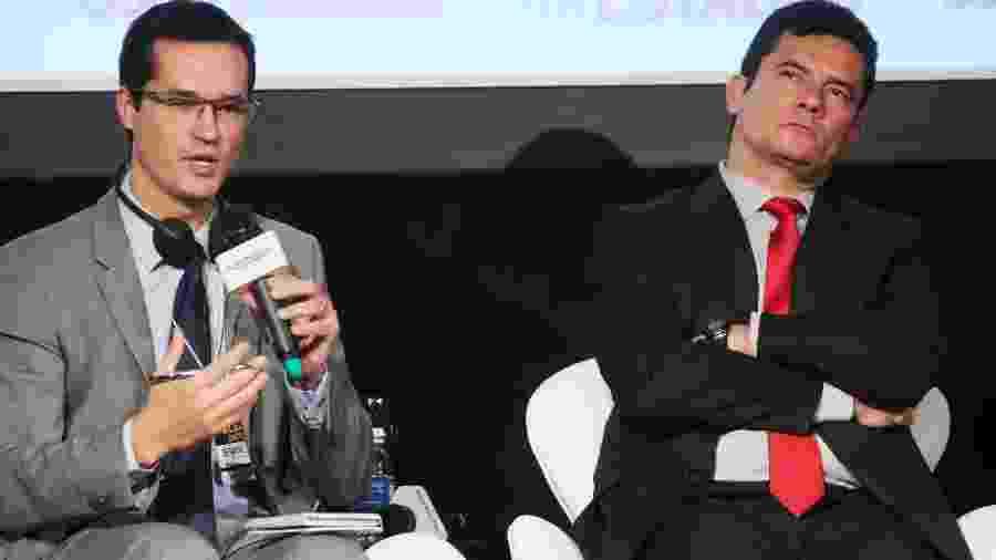 O procurador da República Deltan Dallagnol e o ex-juiz federal Sergio Moro - Jorge Araújo/ Folhapress