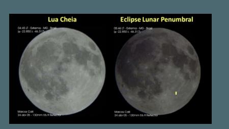 Em um eclipse penumbral, a Lua continual totalmente iluminada, mas com menos intensidade do que a habitual  - Fred Espenak/MrEclipse.com
