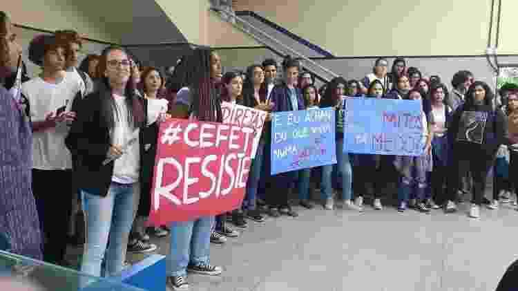 Alunos têm feito protestos constantes no CEFET-RJ - Reprodução/Twitter - Reprodução/Twitter