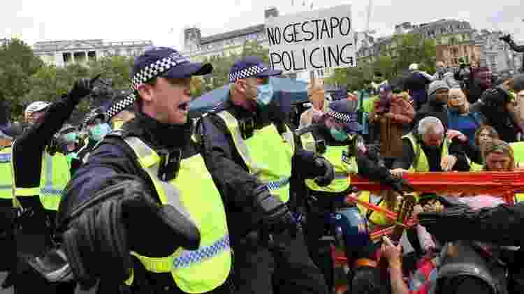 Polícia dispersou manifestantes - Getty Images - Getty Images