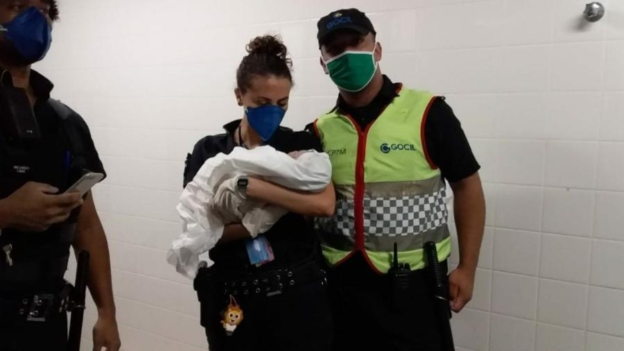 Funcionários da CPTM, do Metrô e policiais militares ajudaram em parto na estação Tamanduateí - Divulgação/CPTM