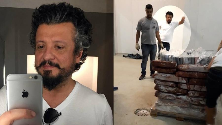Eduardo de Oliveira Cardoso: em fevereiro, agentes federais apreenderam 1,3 tonelada de cocaína em duas casas do empreário - Reprodução