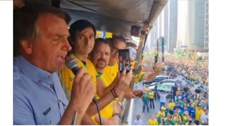 Bolsonaro discursa em ato na Paulista. Em São Paulo, tenta ressuscitar a tese do defunto voto impresso - Reproduçãop
