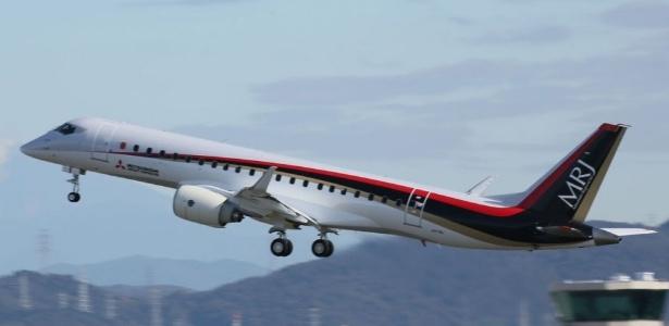 O Mitsubishi Regional Jet (MRJ) tem capacidade para 90 passageiros