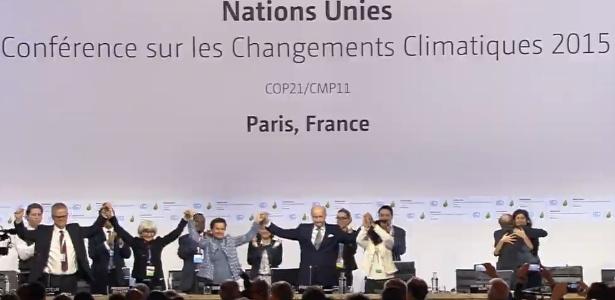 Acordo de Paris é adotado pelos países - Reprodução