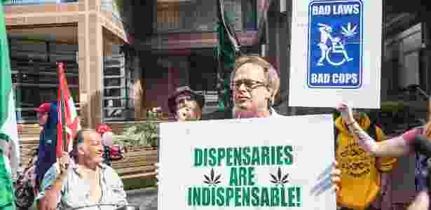27.mai.2016 - Manifestantes pró-cannabis protestam no centro de Toronto - Johnny de Franco/Sigmapress/Estadão Conteúdo