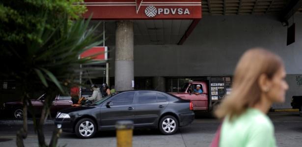 Posto de gasolina da estatal venezuelana PDVSA, em Caracas