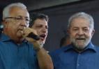 Contra presença de governador do PMDB, CUT e ala do PT deixam caravana de Lula em SE - Beto Macário/UOL