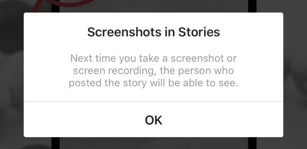 Alerta! Instagram agora avisa sobre captura de tela