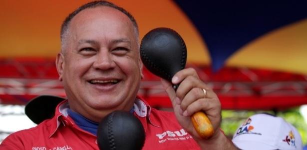 Vice-presidente do partido governista da Venezuela, Diosdado Cabello comemorou saída de PPK  - Marco Bello/Reuters