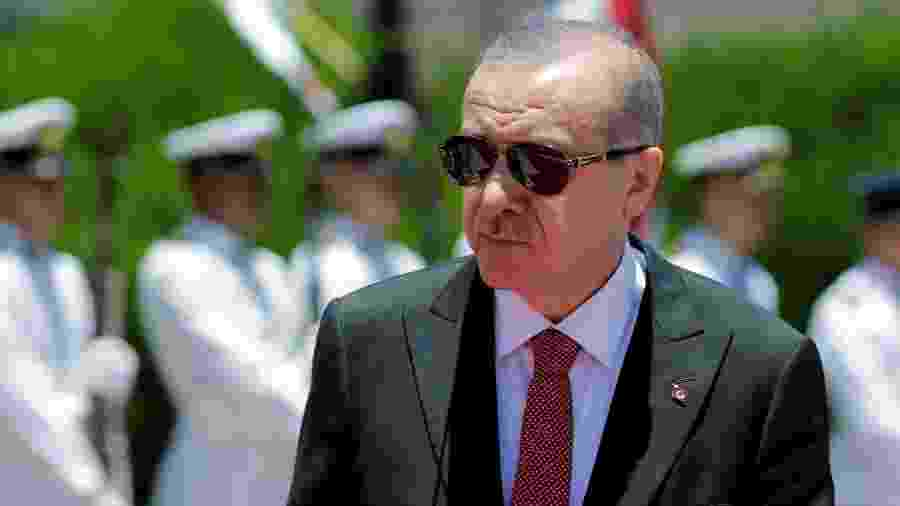02.dez.2018 - Presidente da Turquia,  Tayyip Erdogan  - Jorge Adorno/Reuters
