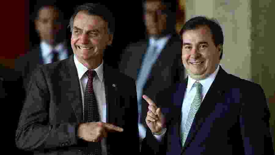 Jair Bolsonaro e Rodrigo Maia, presidente da Câmara  - Pedro Ladeira - 14.nov.2018/Folhapress