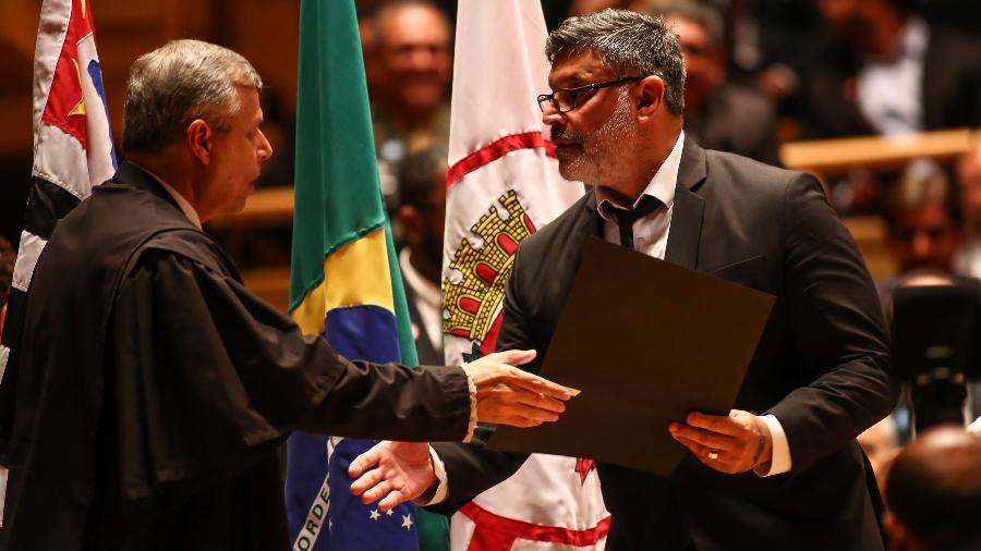 21.nov.2018 - Alexandre Frota, deputado eleito pelo PSL-SP, participa de reunião do partido - Newton Menezes/Estadão Conteúdo