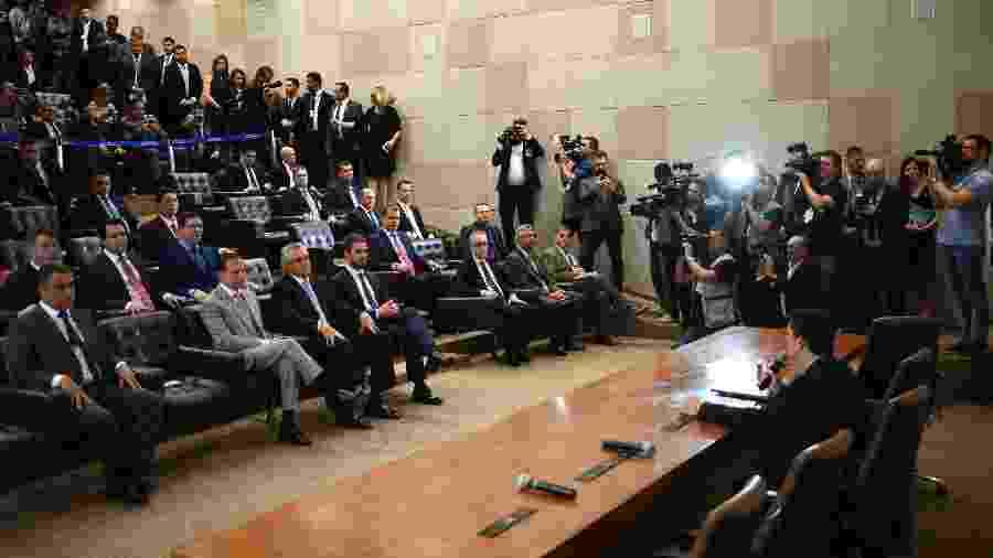 O ministro Sergio Moro apresenta projeto anticrime a governadores e secretários de segurança - Mateus Bonomi/Estadão Conteúdo