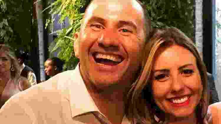 Ronald Aparecido da Silva e a mulher, Lígia Bolognesi - Arquivo pessoal