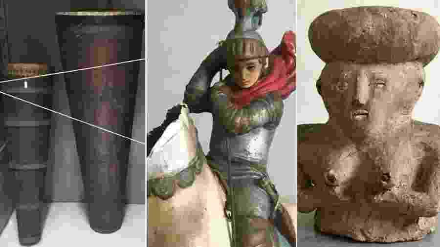 Objetos sagrados do candomblé e da umbanda foram apreendidos em batidas policiais em terreiros no início do século - Marco Antônio Teobaldo