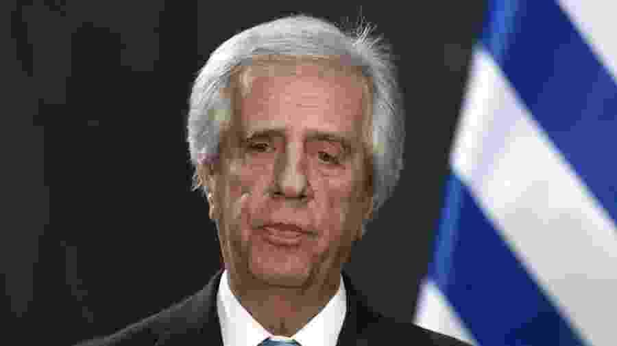 14.nov.2017 - O presidente do Uruguai, Tabaré Vázquez - Alfredo Estrella/AFP