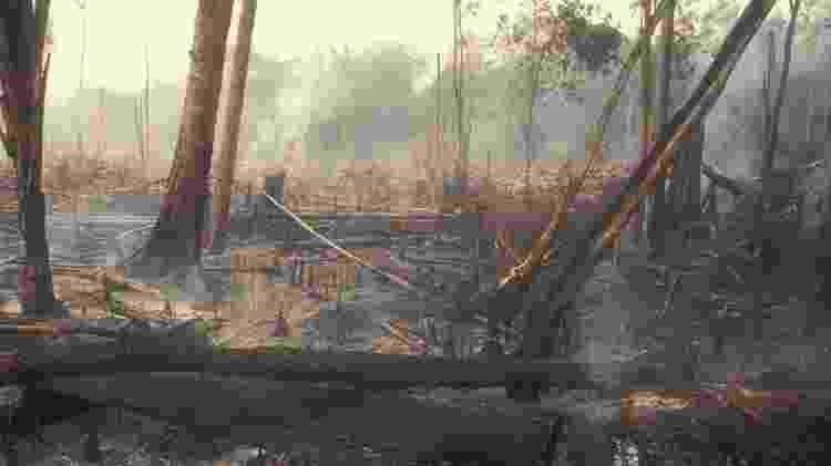 Redução no desmatamento, como este na Amazônia, é uma das medidas urgentes indicadas pelos cientistas - Getty Images