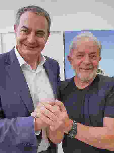 O ex-premiê espanhol José Luis Rodriguez Zapatero e o ex-presidente Lula - Ricardo Stuckert/Divulgação/Facebook